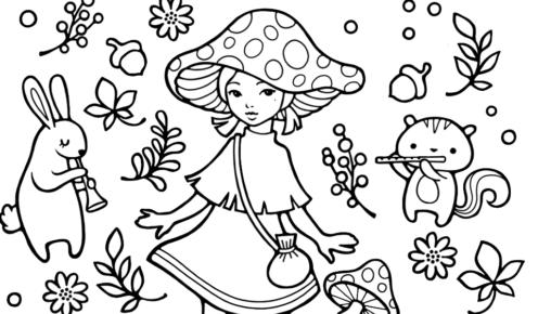 Nina's World friend group colouring image | 290x496